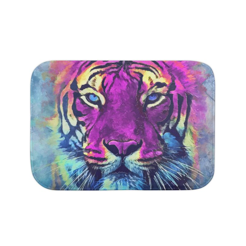 Tiger art Home Bath Mat by jbjart Artist Shop