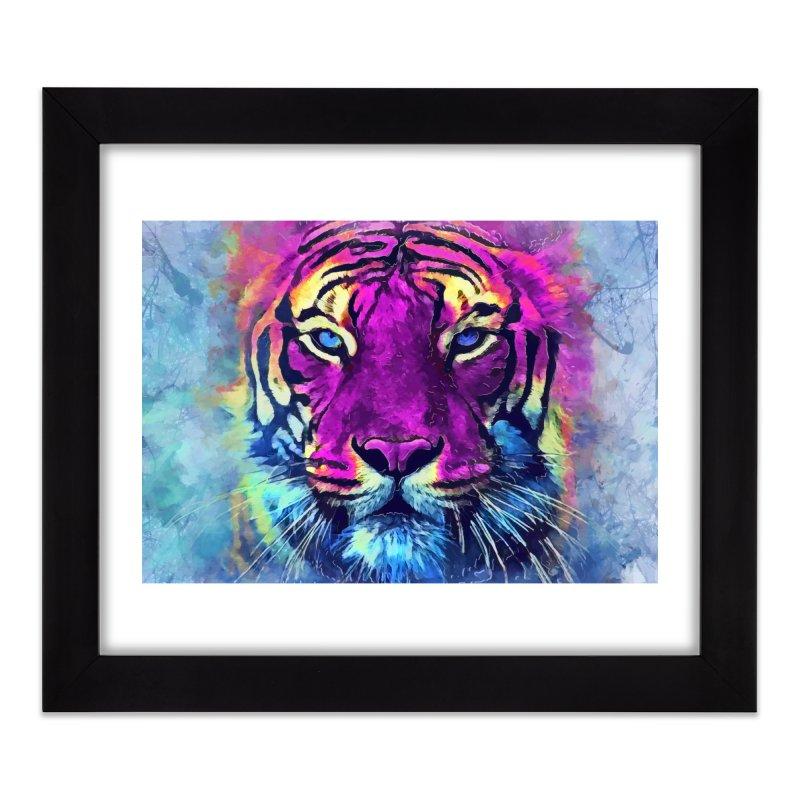 Tiger art Home Framed Fine Art Print by jbjart Artist Shop