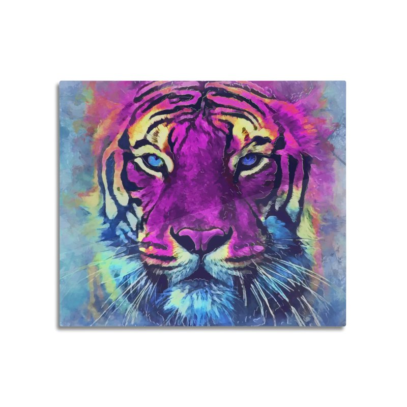 Tiger art Home Mounted Aluminum Print by jbjart Artist Shop
