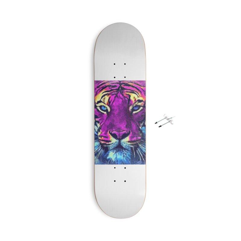 Tiger art Accessories Skateboard by jbjart Artist Shop