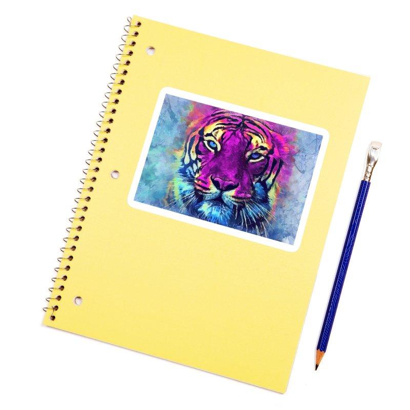 Tiger art Accessories Sticker by jbjart Artist Shop