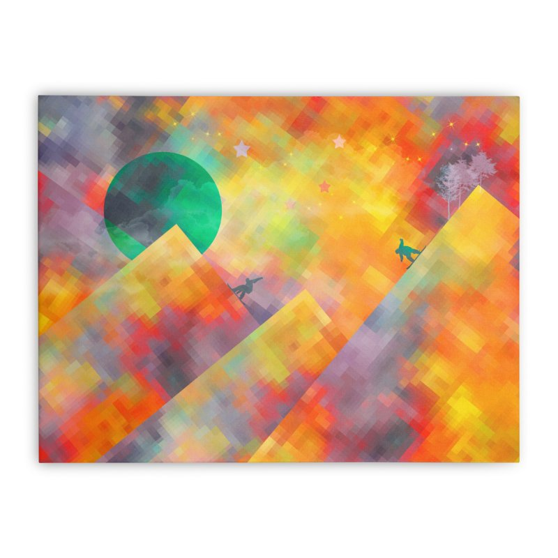 Snowboard Home Stretched Canvas by jbjart Artist Shop