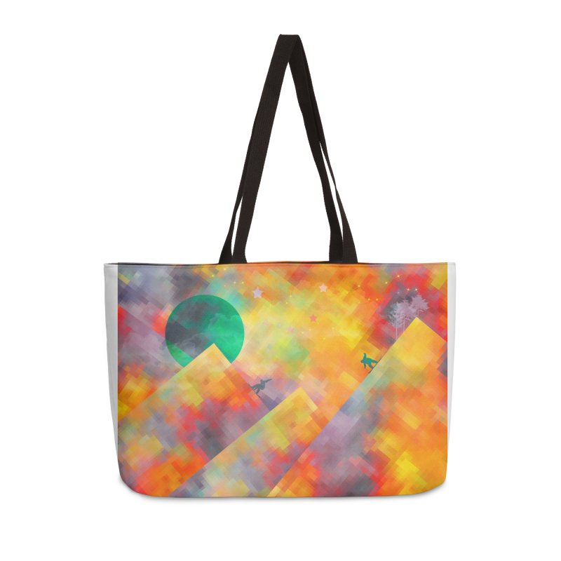Snowboard Accessories Weekender Bag Bag by jbjart Artist Shop