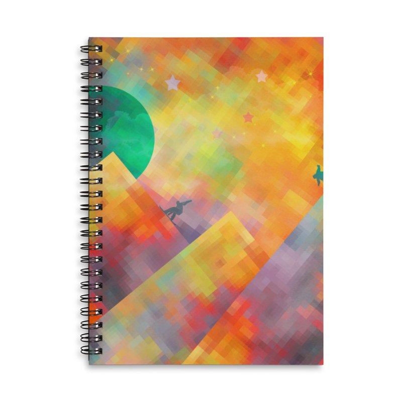 Snowboard Accessories Lined Spiral Notebook by jbjart Artist Shop