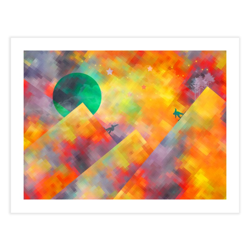 Snowboard Home Fine Art Print by jbjart Artist Shop