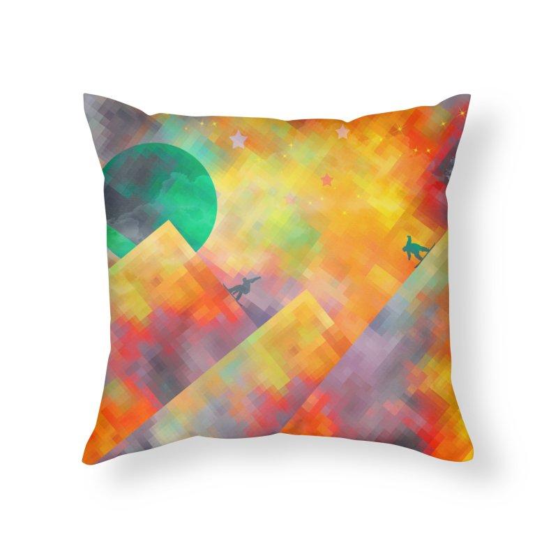 Snowboard Home Throw Pillow by jbjart Artist Shop