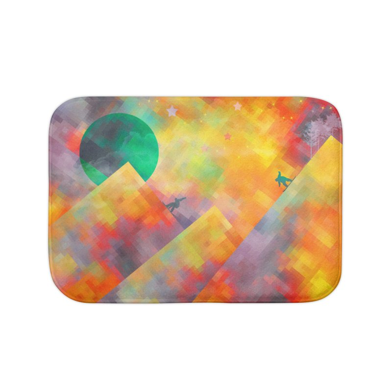 Snowboard Home Bath Mat by jbjart Artist Shop