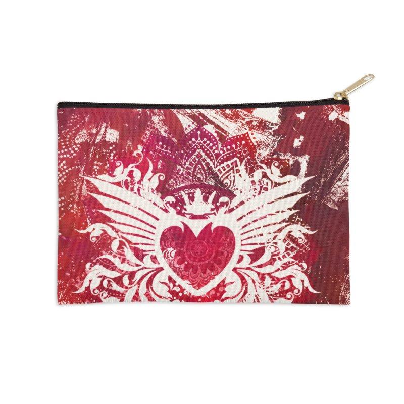 Red Heart Accessories Zip Pouch by jbjart Artist Shop