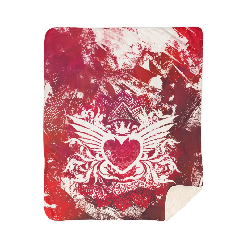 Red Heart Home Blanket by jbjart Artist Shop