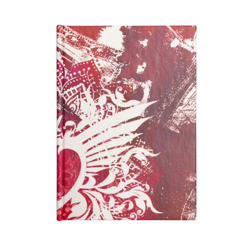 Red Heart Accessories Blank Journal Notebook by jbjart Artist Shop