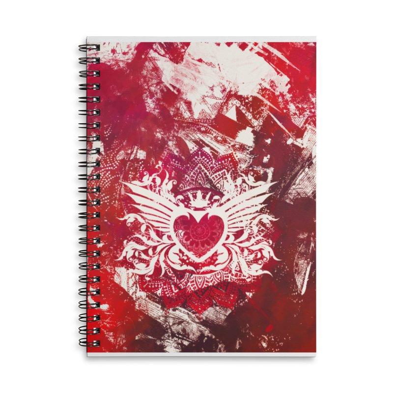 Red Heart Accessories Lined Spiral Notebook by jbjart Artist Shop