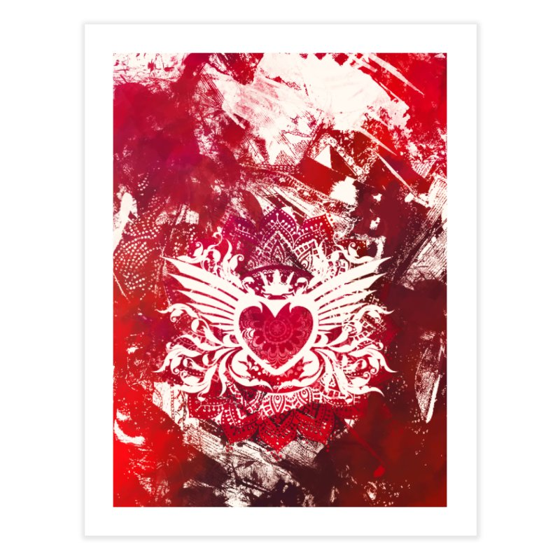 Red Heart Home Fine Art Print by jbjart Artist Shop