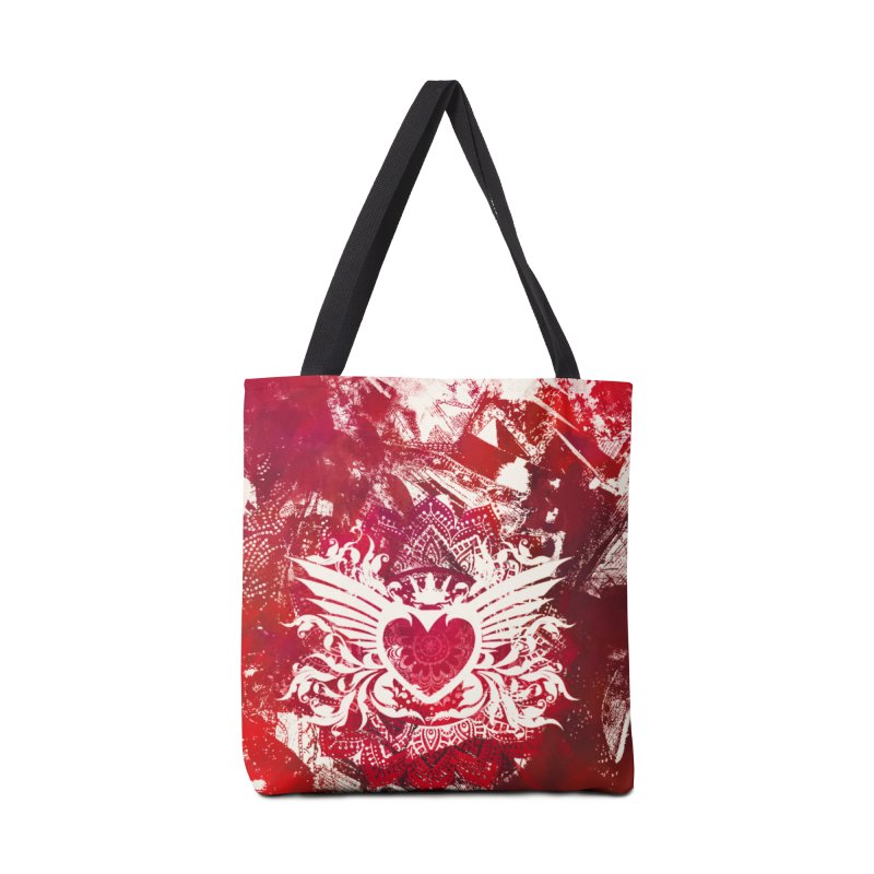 Red Heart Accessories Tote Bag Bag by jbjart Artist Shop