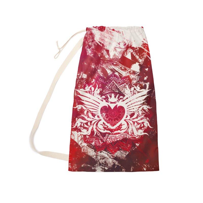 Red Heart Accessories Bag by jbjart Artist Shop