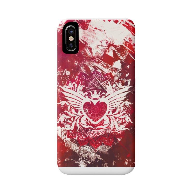 Red Heart Accessories Phone Case by jbjart Artist Shop