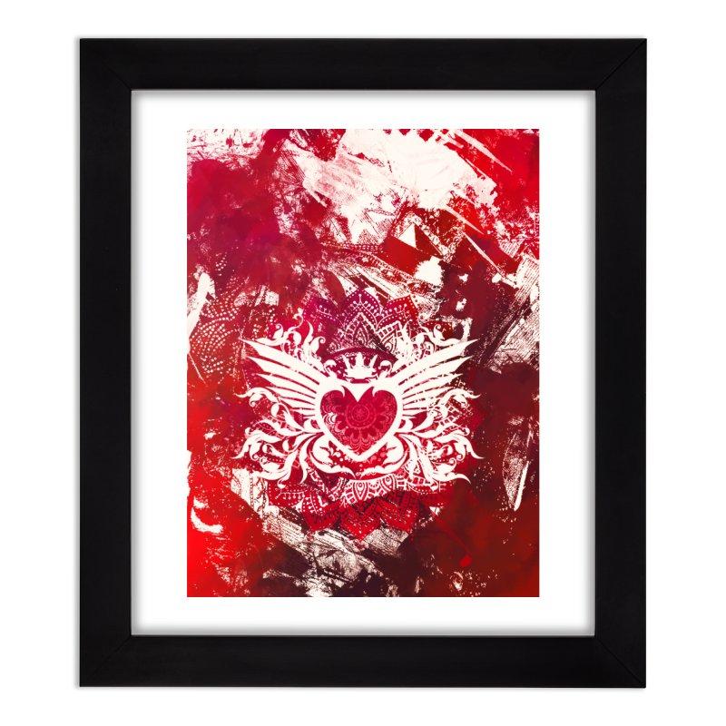 Red Heart Home Framed Fine Art Print by jbjart Artist Shop