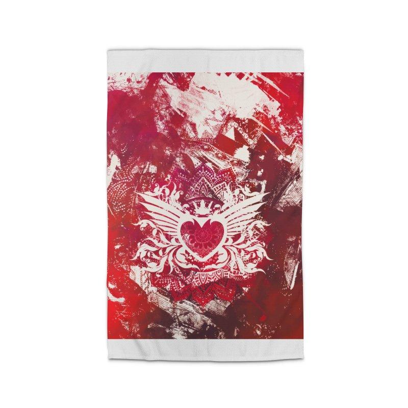 Red Heart Home Rug by jbjart Artist Shop