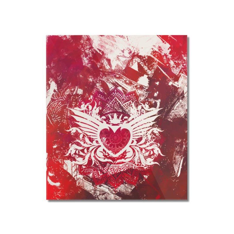 Red Heart Home Mounted Acrylic Print by jbjart Artist Shop