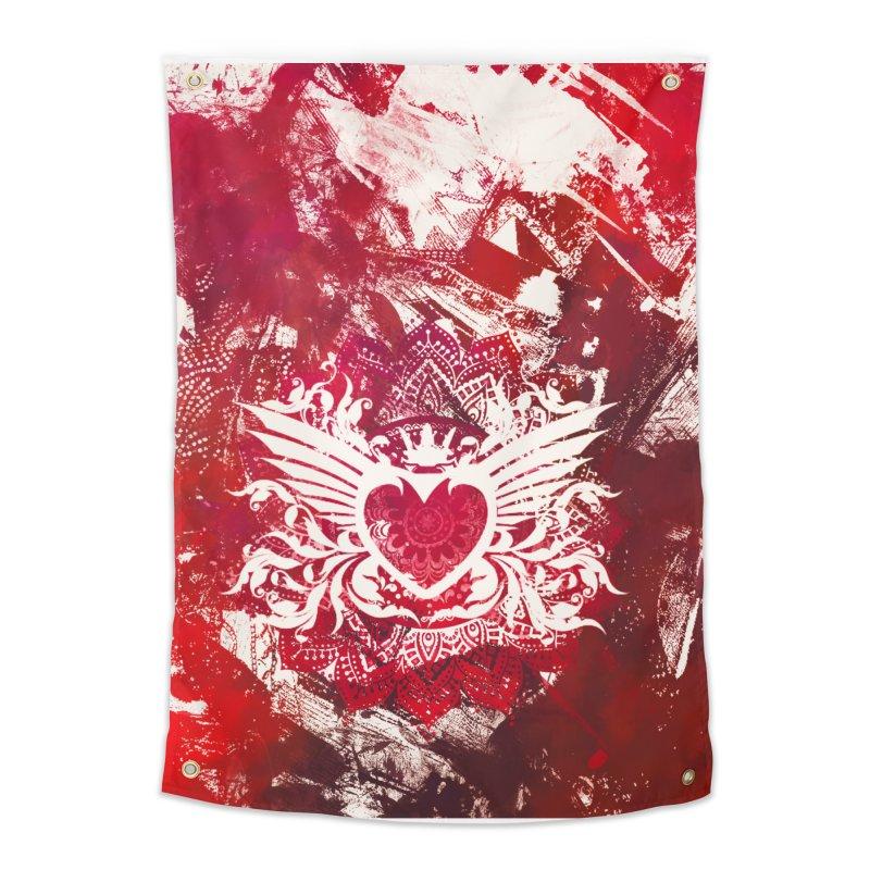 Red Heart Home Tapestry by jbjart Artist Shop
