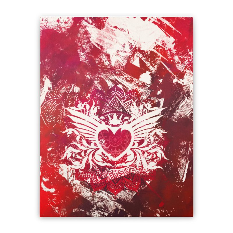 Red Heart Home Stretched Canvas by jbjart Artist Shop