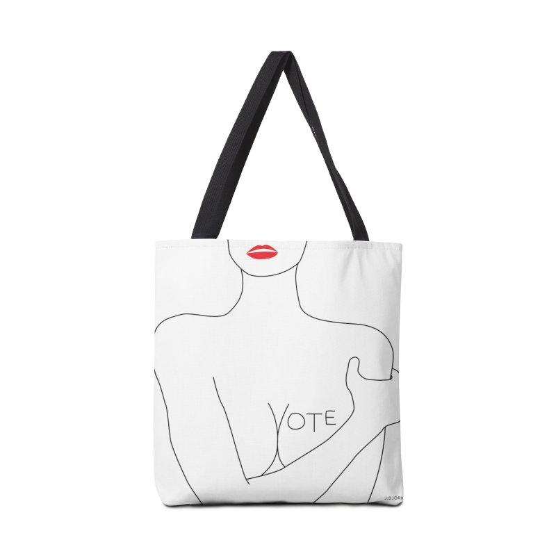 VOTE, No.3 (white) Accessories Tote Bag Bag by J.BJÖRK: minimalist printed artworks