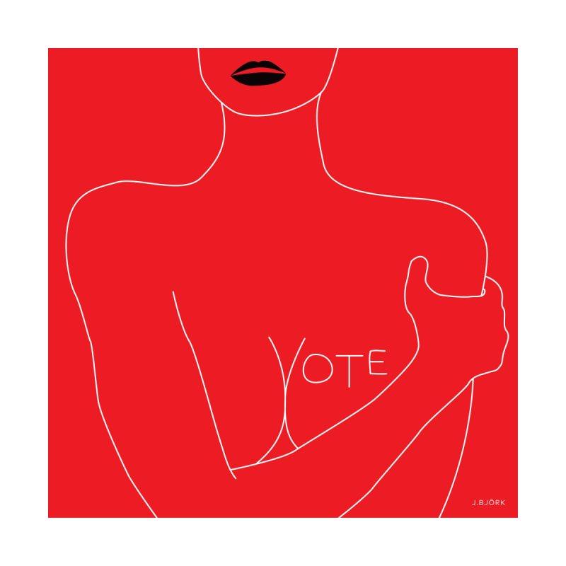VOTE, No.3 (red) by J.BJÖRK: minimalist printed artworks