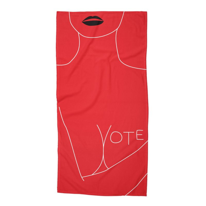 VOTE, No.3 (red) Accessories Beach Towel by J.BJÖRK: minimalist printed artworks