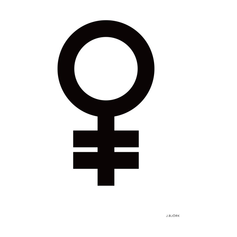 Feminism = Equality (black) Home Fine Art Print by J.BJÖRK: minimalist printed artworks