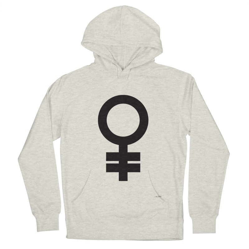 Feminism = Equality (black) Women's French Terry Pullover Hoody by J.BJÖRK: minimalist printed artworks