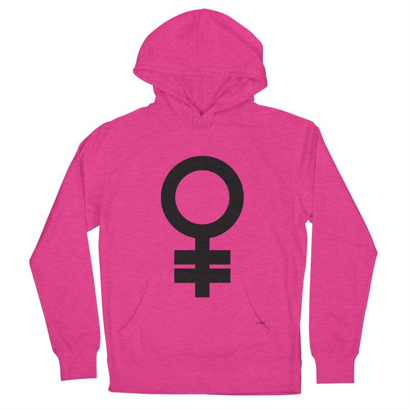 Feminism = Equality (black) Women's Pullover Hoody by J.BJÖRK: minimalist printed artworks