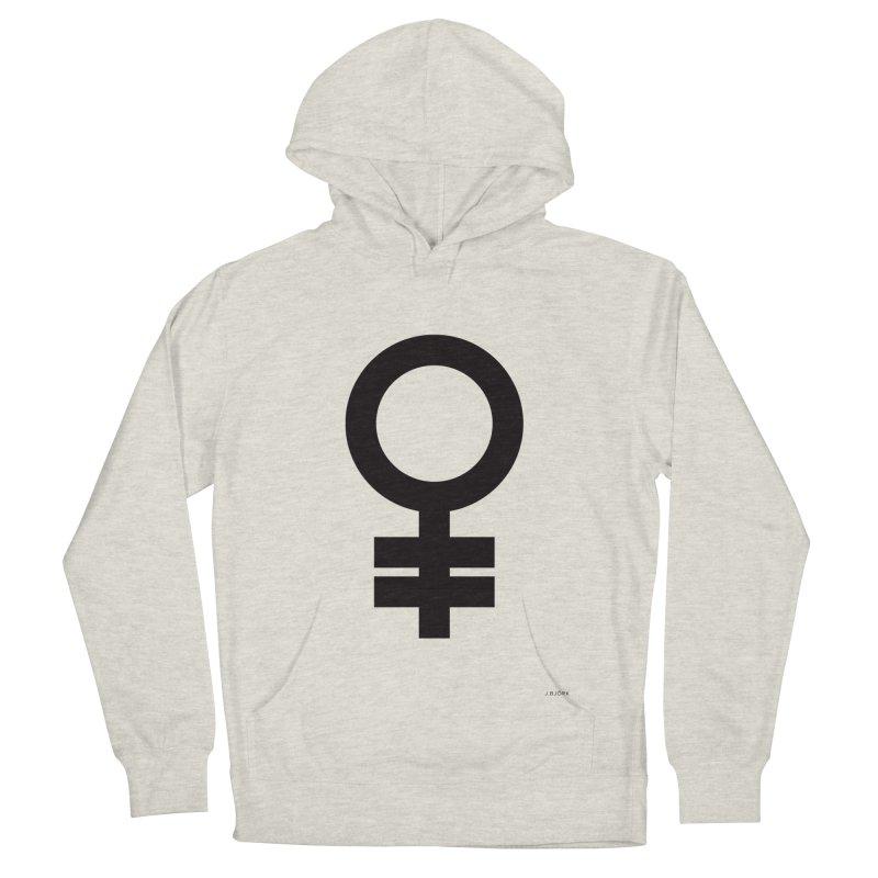 Feminism = Equality (black) Men's Pullover Hoody by J.BJÖRK: minimalist printed artworks