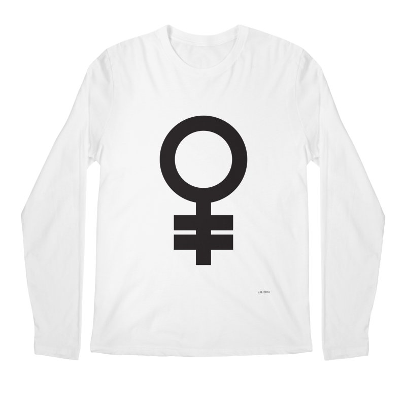 Feminism = Equality (black) Men's Longsleeve T-Shirt by J.BJÖRK: minimalist printed artworks