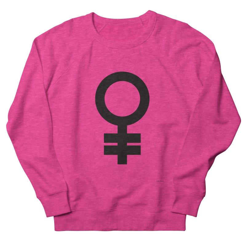 Feminism = Equality (black) Women's Sweatshirt by J.BJÖRK: minimalist printed artworks