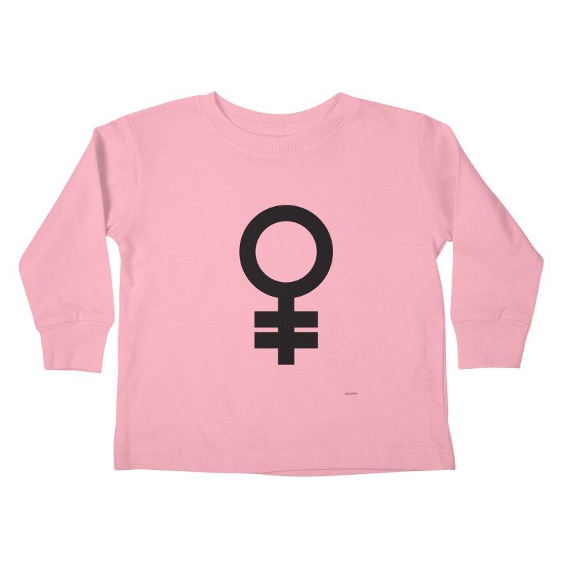 Feminism = Equality (black) Kids Toddler Longsleeve T-Shirt by J.BJÖRK: minimalist printed artworks