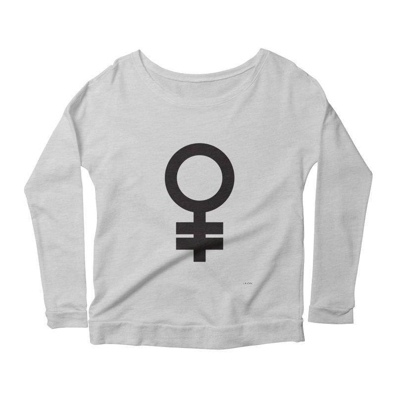 Feminism = Equality (black) Women's Scoop Neck Longsleeve T-Shirt by J.BJÖRK: minimalist printed artworks
