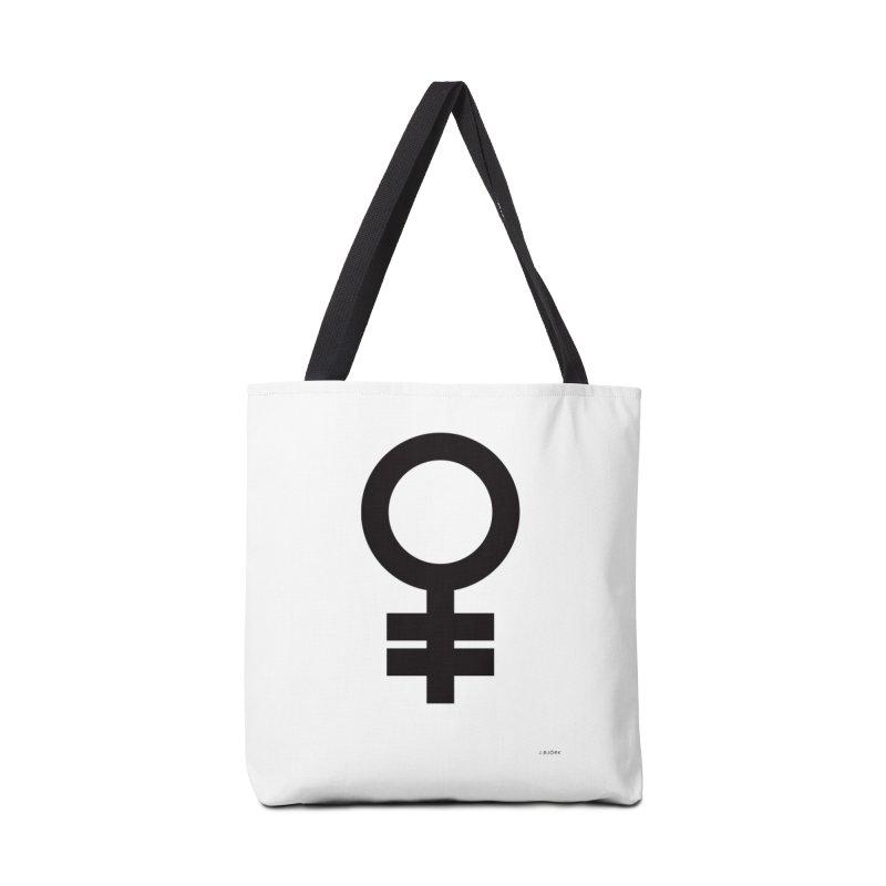 Feminism = Equality (black) Accessories Bag by J.BJÖRK: minimalist printed artworks