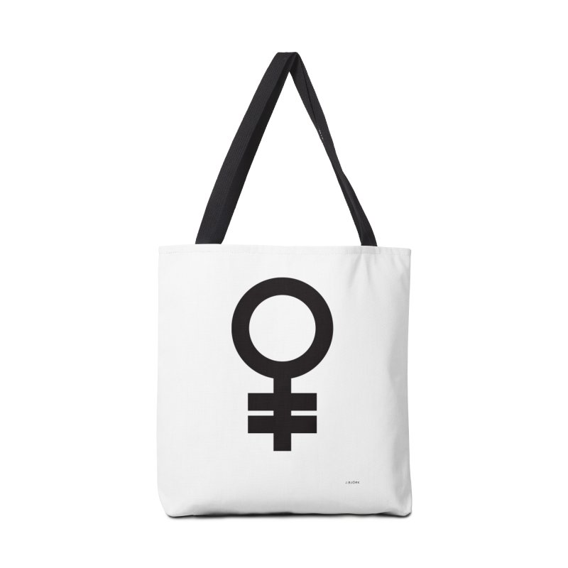 Feminism = Equality (black) Accessories Bag by J.BJÖRK: minimalist printed artworks