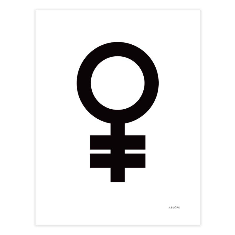Feminism = Equality (black) Home Throw Pillow by J.BJÖRK: minimalist printed artworks
