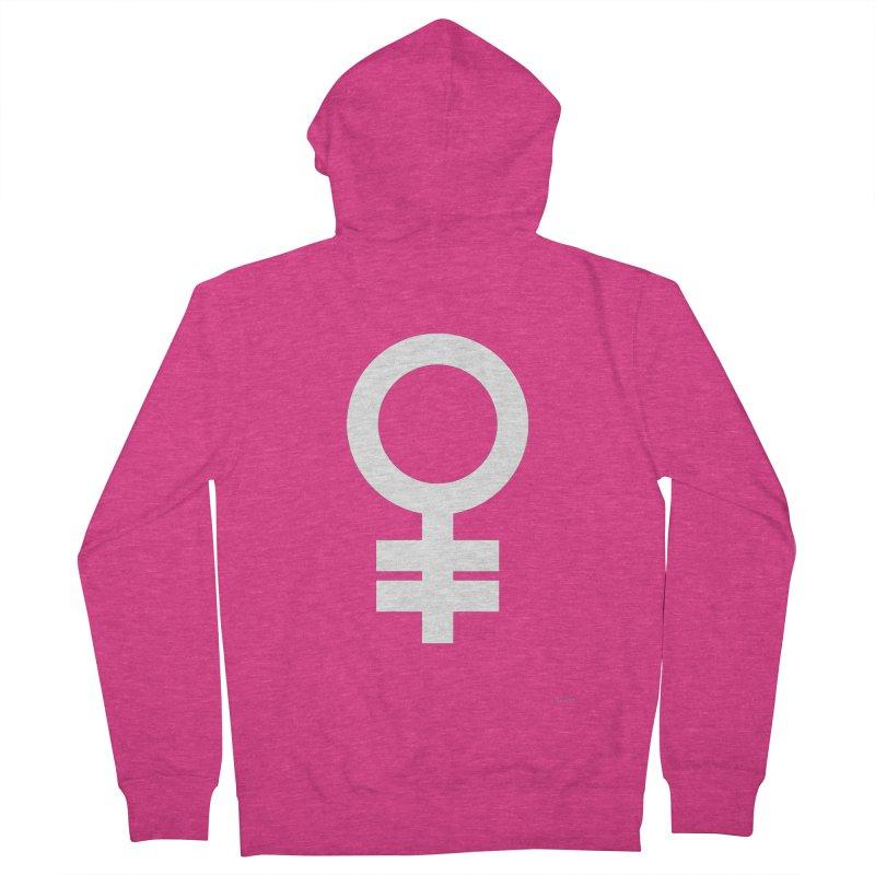 Feminism = Equality (white) Women's Zip-Up Hoody by J.BJÖRK: minimalist printed artworks