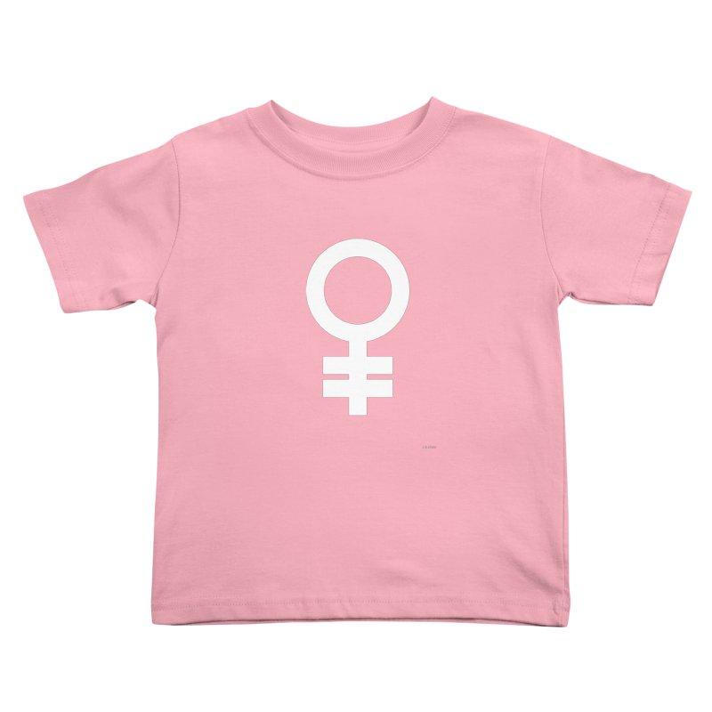 Feminism = Equality (white) Kids Toddler T-Shirt by J.BJÖRK: minimalist printed artworks