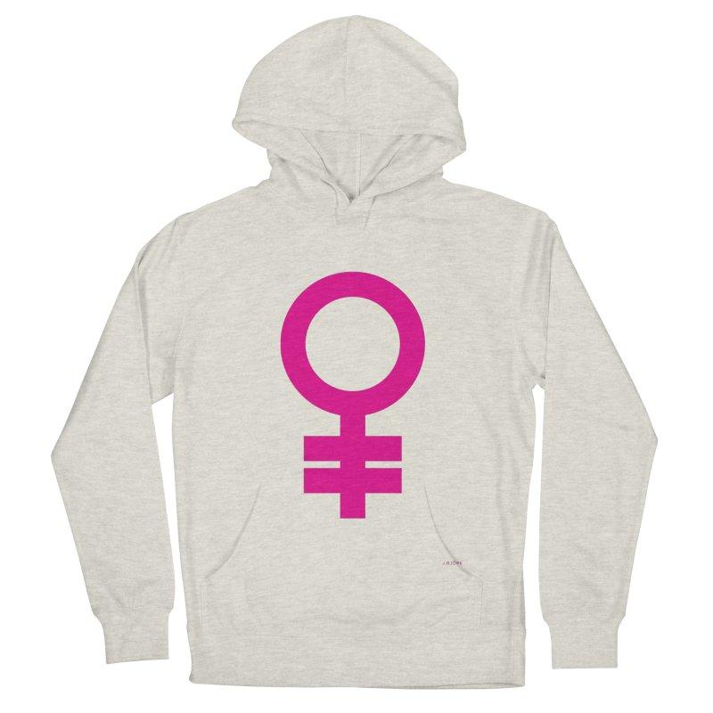 Feminism = Equality (pink) Men's Pullover Hoody by J.BJÖRK: minimalist printed artworks