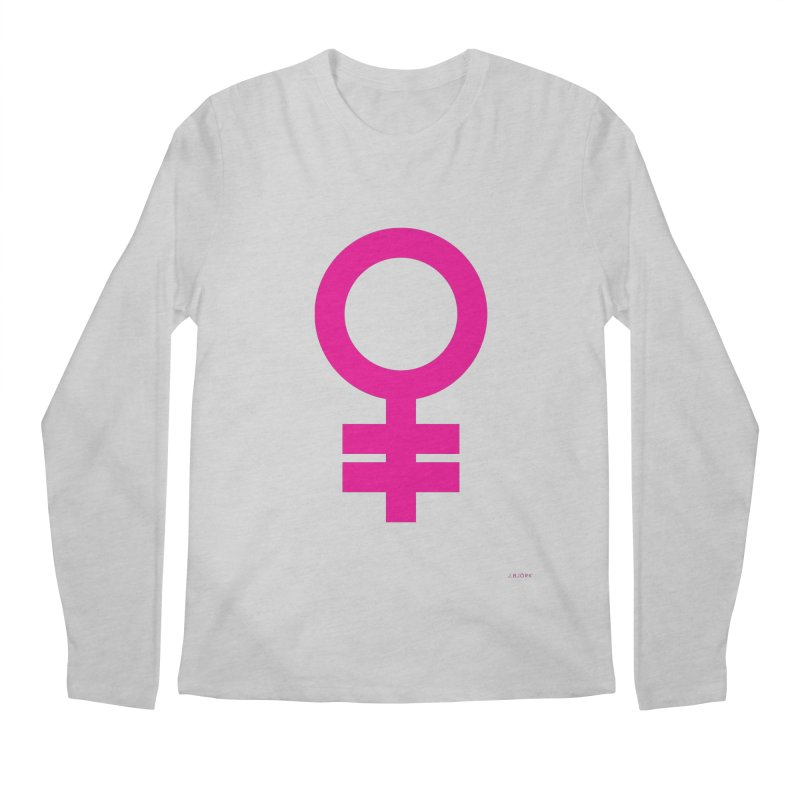 Feminism = Equality (pink) Men's Regular Longsleeve T-Shirt by J.BJÖRK: minimalist printed artworks