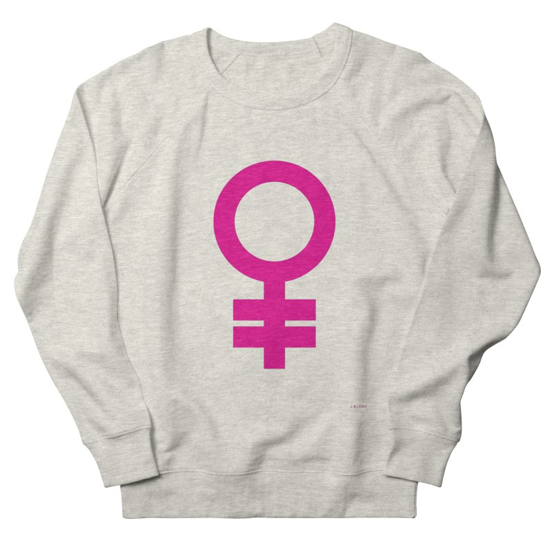 Feminism = Equality (pink) Women's French Terry Sweatshirt by J.BJÖRK: minimalist printed artworks