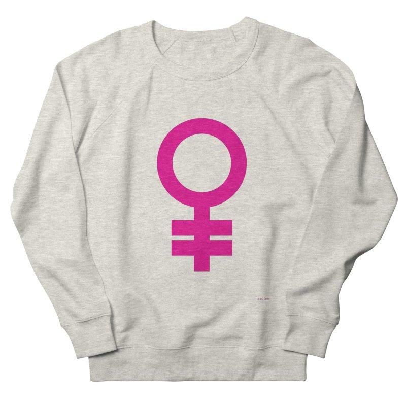 Feminism = Equality (pink) Men's French Terry Sweatshirt by J.BJÖRK: minimalist printed artworks