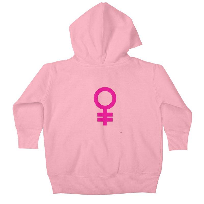 Feminism = Equality (pink) Kids Baby Zip-Up Hoody by J.BJÖRK: minimalist printed artworks