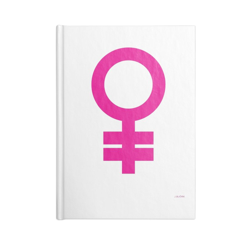Feminism = Equality (pink) Accessories Blank Journal Notebook by J.BJÖRK: minimalist printed artworks