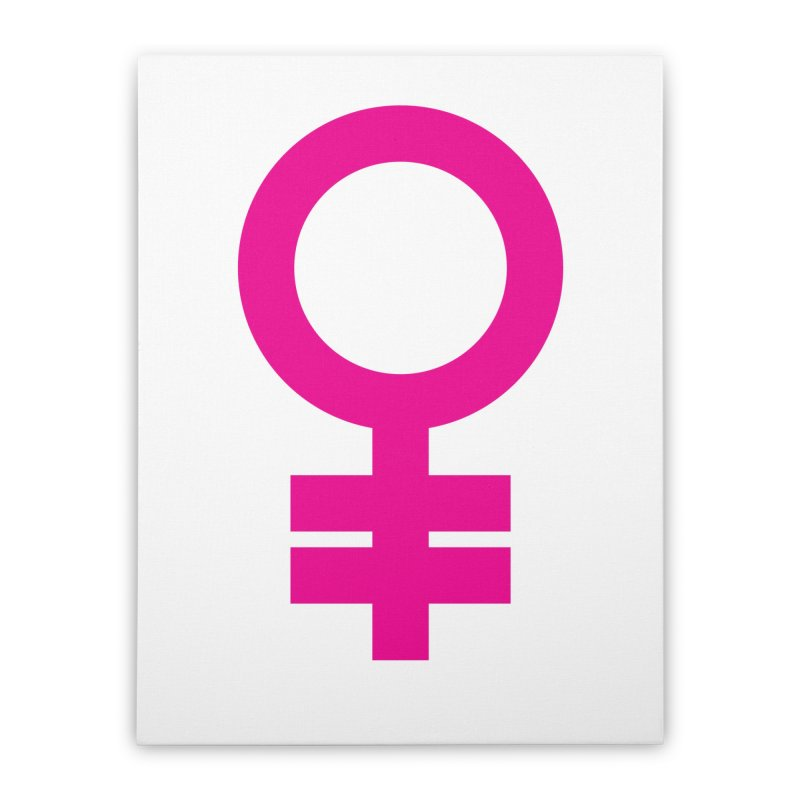 Feminism = Equality (pink) Home Stretched Canvas by J.BJÖRK: minimalist printed artworks
