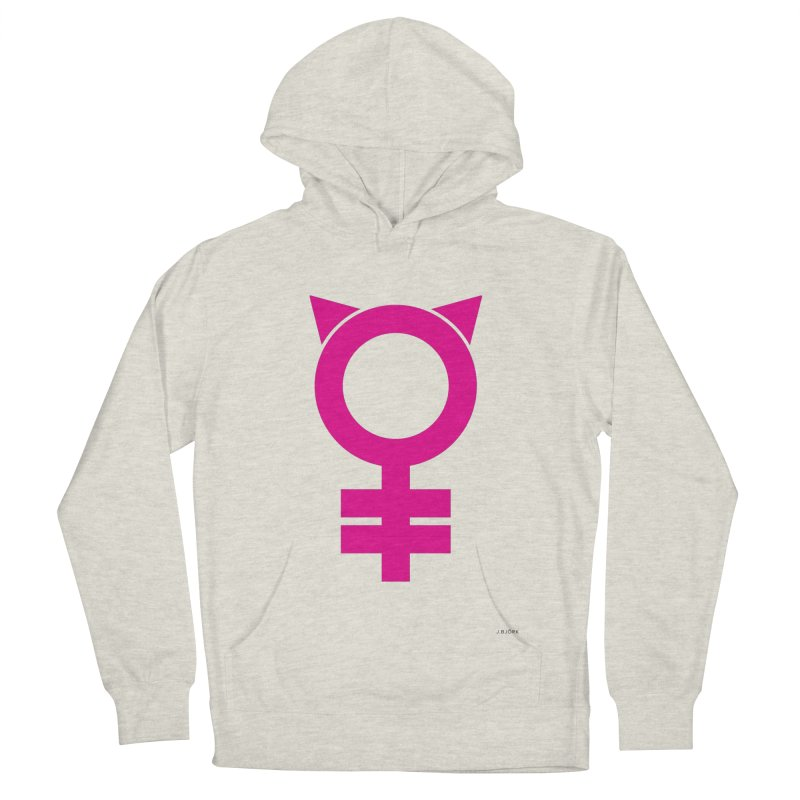Feminism = Equality, #pussyhat Edition (pink) Men's Pullover Hoody by J.BJÖRK: minimalist printed artworks