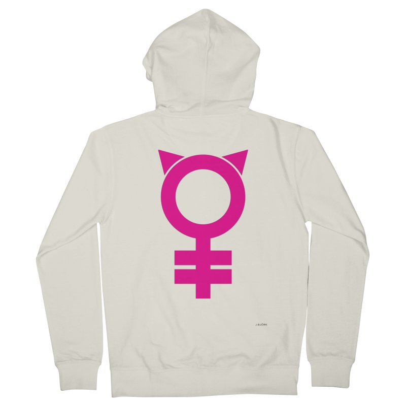 Feminism = Equality, #pussyhat Edition (pink) Women's Zip-Up Hoody by J.BJÖRK: minimalist printed artworks