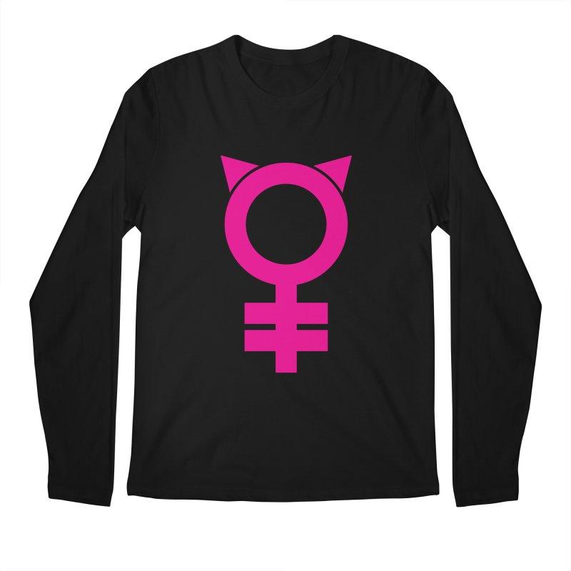Feminism = Equality, #pussyhat Edition (pink) Men's Regular Longsleeve T-Shirt by J.BJÖRK: minimalist printed artworks